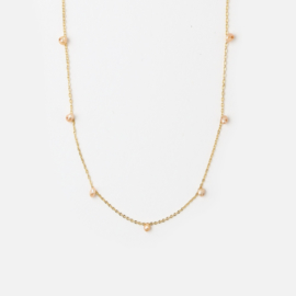 FINE PEARLDROP NECKLACE- ORELIA