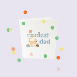 CONFETTI CARD BABY 'COOLEST DAD' - THE GIFT LABEL