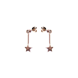 CHAINSTUDS ZIRCONIA STAR ROSEPLATED - KARMA