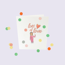 CONFETTI CARD BABY 'LOT'S OF LOVE' - THE GIFT LABEL