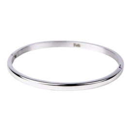 BANGLE BOL 4MM ZILVER - KALLIKALLI