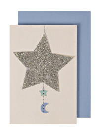STARS & MOON ENCLOSURE CARD  - MERI MERI