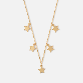 FIVE STAR GOLD NECKLACE - ORELIA