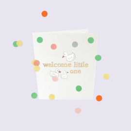 CONFETTI CARD BABY 'WELCOME LITTLE ONE' - THE GIFT LABEL