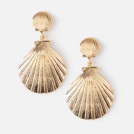 DOUBLE SHEA SHELL EARRING GOLD - ORELIA