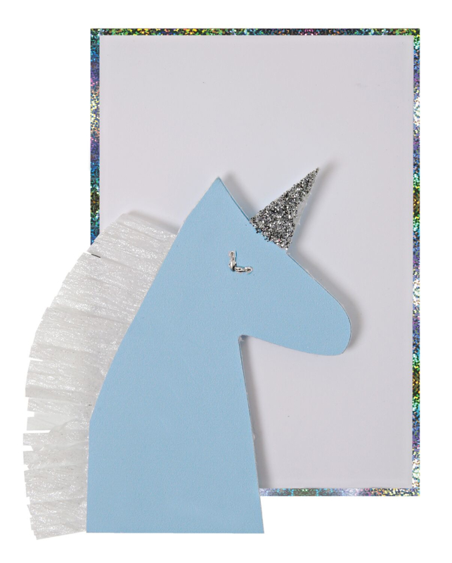 BLUE UNICORN ENCLOSURE CARD  - MERI MERI