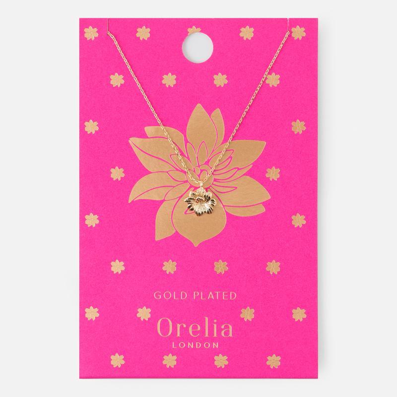 TROPICAL FLOWER DITSY NECKLACE - ORELIA