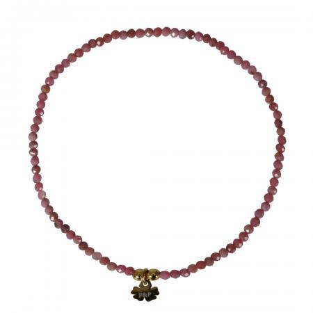 A FINE ROCKS BRACELET FACET RHODONITE - PIMPS AND PEARLS