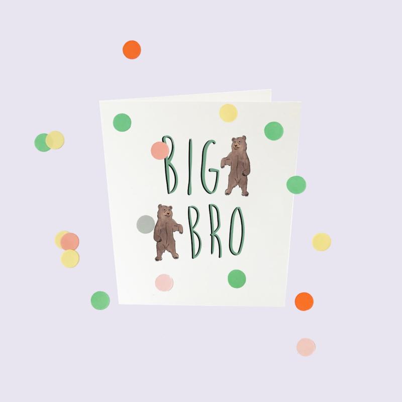 CONFETTI CARD BABY 'BIG BRO' - THE GIFT LABEL