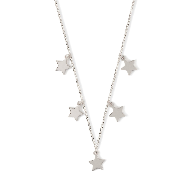 FIVE STAR SILVER NECKLACE - ORELIA