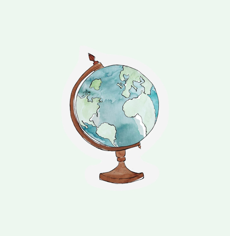 CUT OUT CARD GLOBE - THE GIFT LABEL
