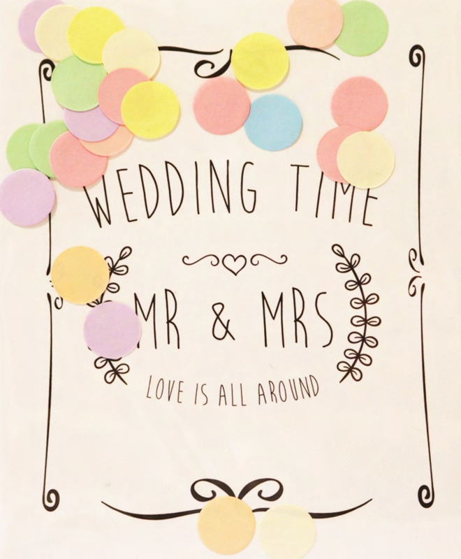 CONFETTI CARD WEDDING TIME  - THE GIFT LABEL