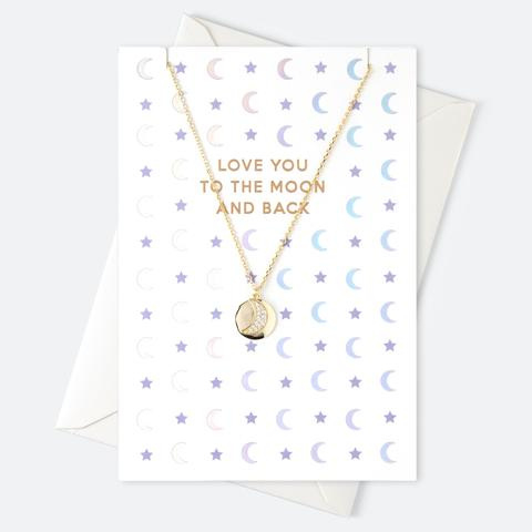 TO THE MOON AND BACK NECKLACE - ORELIA