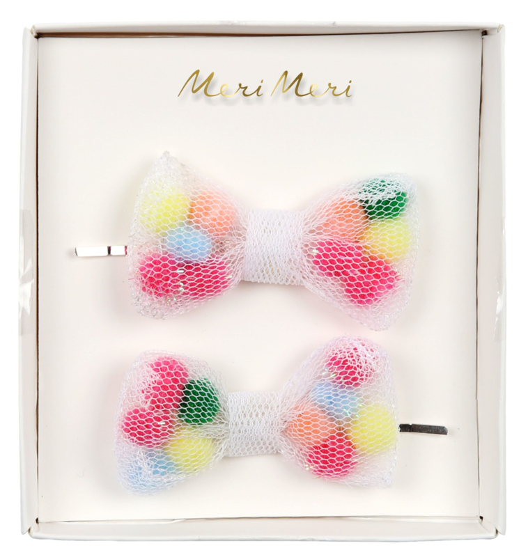 NET BOW HAIR CLIPS - MERI MERI