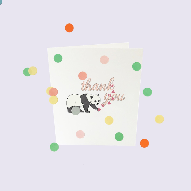 CONFETTI CARD BABY 'THANK YOU' - THE GIFT LABEL