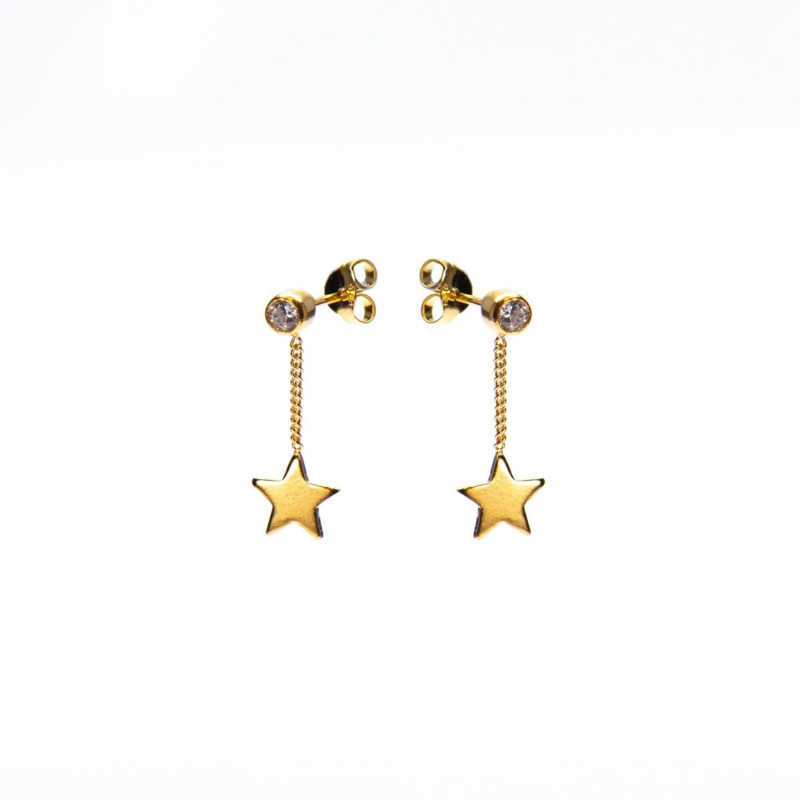CHAINSTUDS ZIRCONIA STAR GOLDPLATED - KARMA
