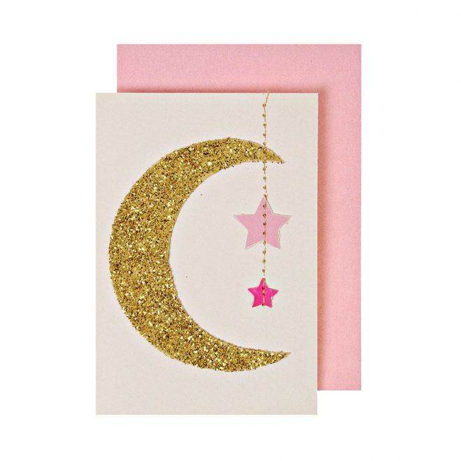 MOON & STARS ENCLOSURE CARD  - MERI MERI