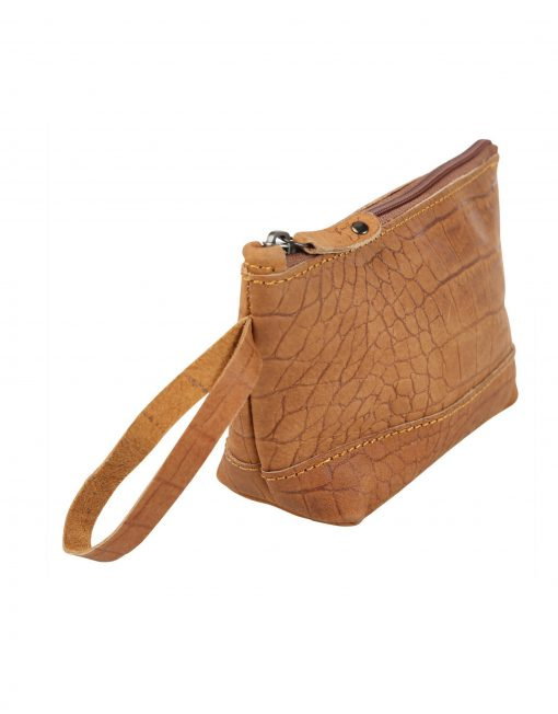 MAKE UP BAG CROCO COGNAC - CHABO