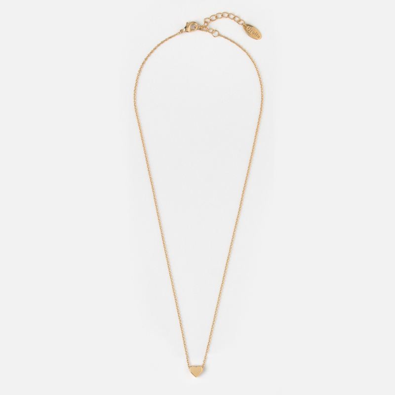 TINY HEART NECKLACE GOLD - ORELIA