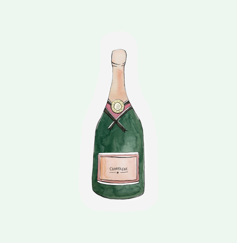 CUT OUT CARD CHAMPAGNE - THE GIFT LABEL