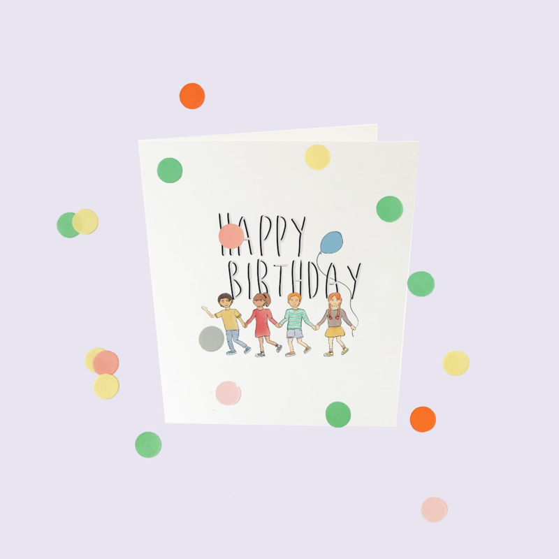 CONFETTI CARD BABY 'HAPPY BIRTHDAY' - THE GIFT LABEL