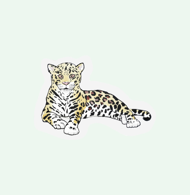 CUT OUT CARD LEOPARD - THE GIFT LABEL