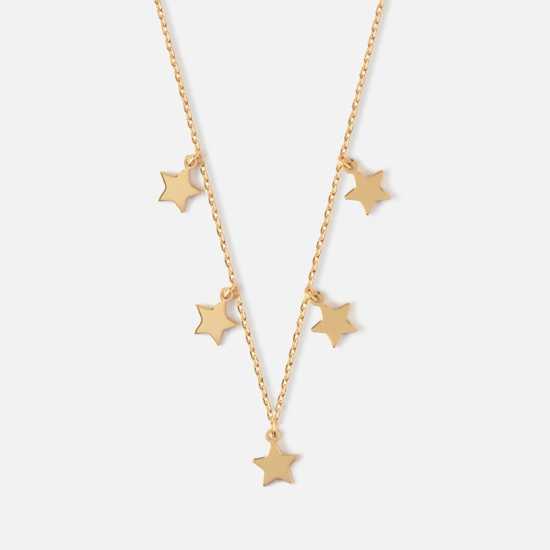 FIVE STAR GOLD NECKLACE - ORELIA