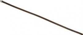 Beugelriemen met wit sierstiksel 125 cm