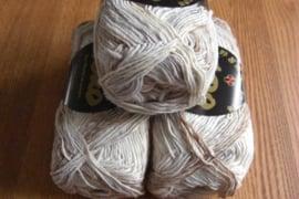 Silk Garden Sock Creme, Tan, Grijs