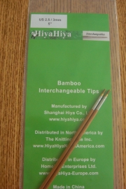 "Bamboe tips 4""/3mm"