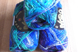 Silk Garden Sock Royal Paars Groen