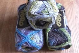 Silk Garden Sock Grijs, Lime, Bruin, Zwart