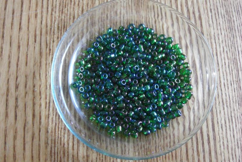 Glaskralen Donker groen