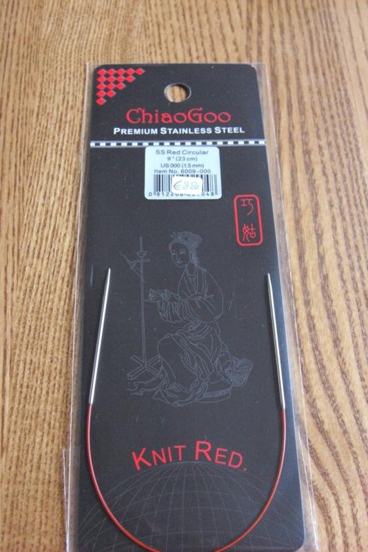 ChiaoGoo SS Red Circular 23cm/1.75mm