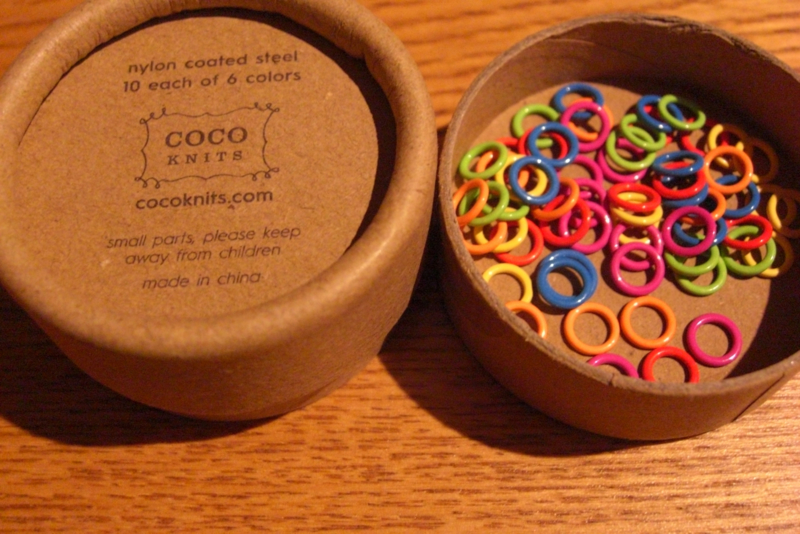 Coco Knits 60 Colored Stitch Markers 4.5 mm