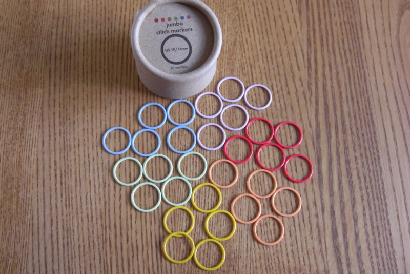 Coco Knits 30 Colored Stitch Markers Jumbo 16mm