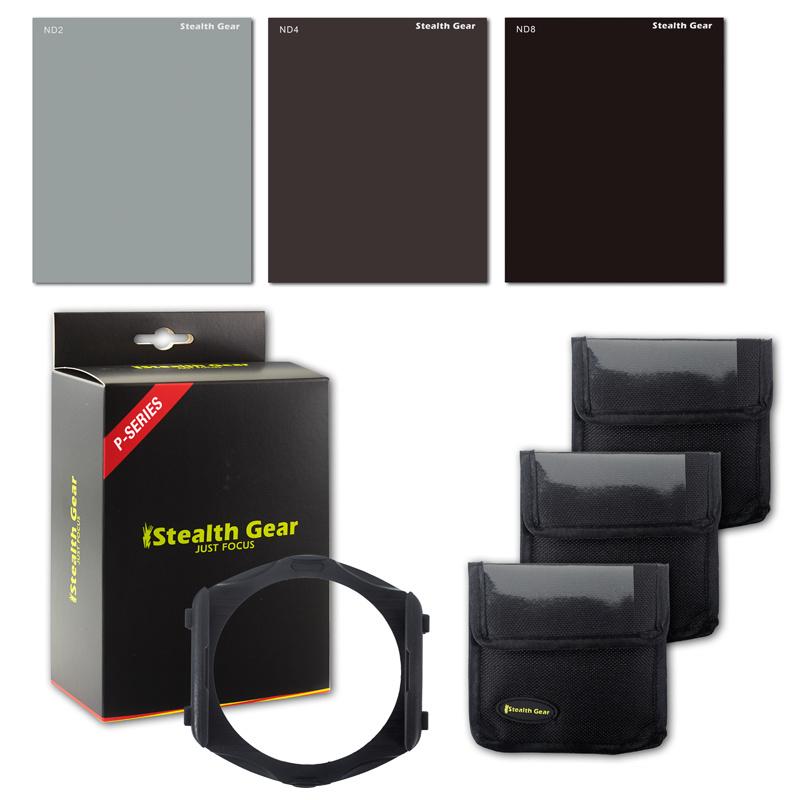 ND Filter Kit P-Systeem + Filterhouder + 9 Adapterringen, STEALTH GEAR
