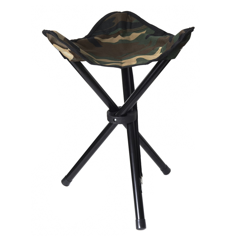 Collapsible Stool 3 legs, 100% polyester, STEALTH GEAR