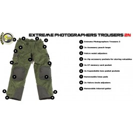 Extreme Trouser model N2 Forest Green Size XXXL,34, STEALTH GEAR