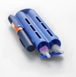 DiaSecure naalden-, medicatie-, pen container (blauw)