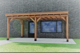 Aanbouw Veranda Excellent Douglas maatwerk max. 600x300 cm