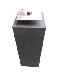 Betonpoer 20x20 antraciet  met Rvs bevestigingsplaat