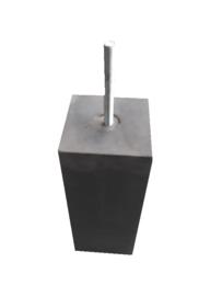 Betonpoer  20x20 antraciet met draadeind