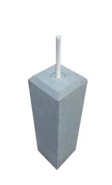 Betonpoer  20x20 antraciet met velling en draadeind