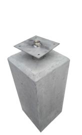 Betonpoer 20x20 Grijs met velling en RVS bevestigingsplaat