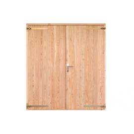 Opgeklampte deur dubbel 1860x1950mm+kozijn 1996x2021mm