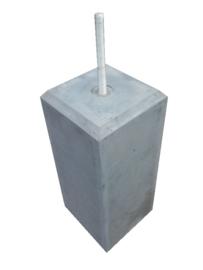 Betonpoer 15x15 antraciet met velling en draadeind