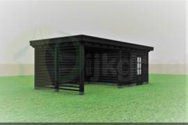 Veranda Excellent Douglas Zwart Maatwerk max. 695x300 cm