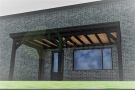 Veranda Excellent Zwart Douglas maatwerk max. 600x300 cm