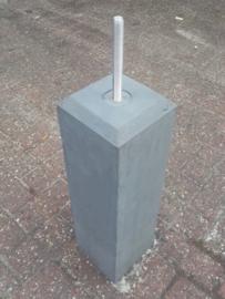 Betonpoer 12x12 antraciet met velling en draadeind